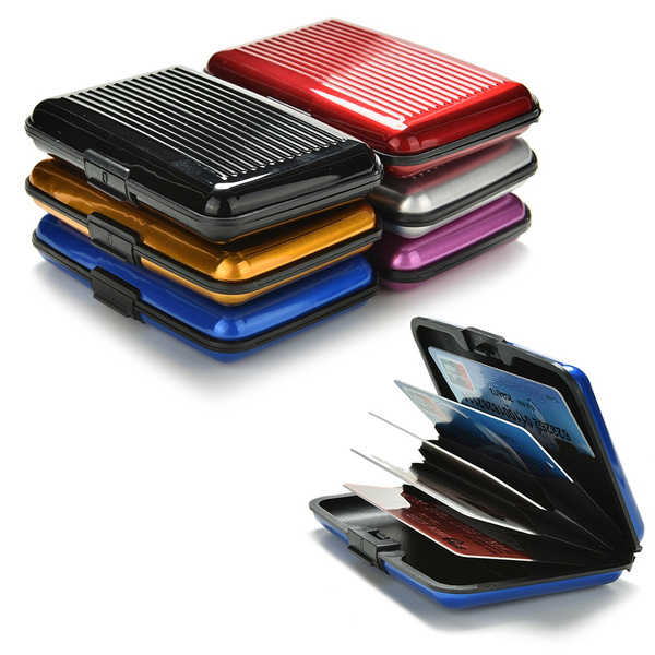 Picture of Hard Case Wallet Credit Card Anti-rfid Scanning Protect Holder