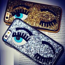 Bling Glitter Gossip Girl Sequins Eye Back Case Cover For iPhone 5 5s 6 6s Plus