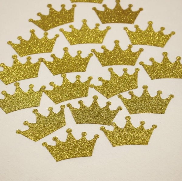 Wish | 100Pcs Gold Wedding Confetti Crown Confetti Table Decorations Paper  Die Cut