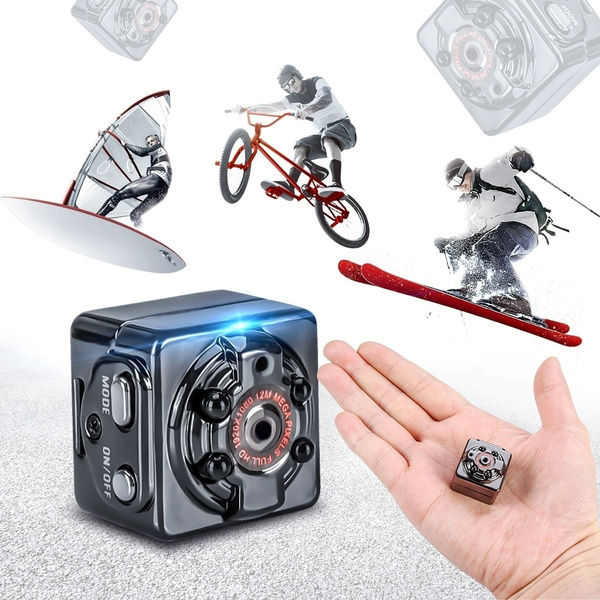 Picture of Full Hd 1080p Mini Dv Sports Action Camera Recorder Car Dvr Ir Night Vision Size 8.5cm X 8cm X 3.5cm Color Black
