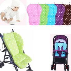 Baby Stroller Seat Cushion Cotton Polka Dot Printed Soft Thick Pad