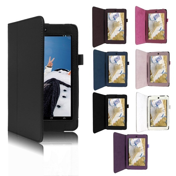 Fashion Folding PU Leather Cases for Asus MeMo Pad HD7 protective Stand  Case Cover Skin For ASUS MeMO Pad HD 7 ME173X ME173 Tablet