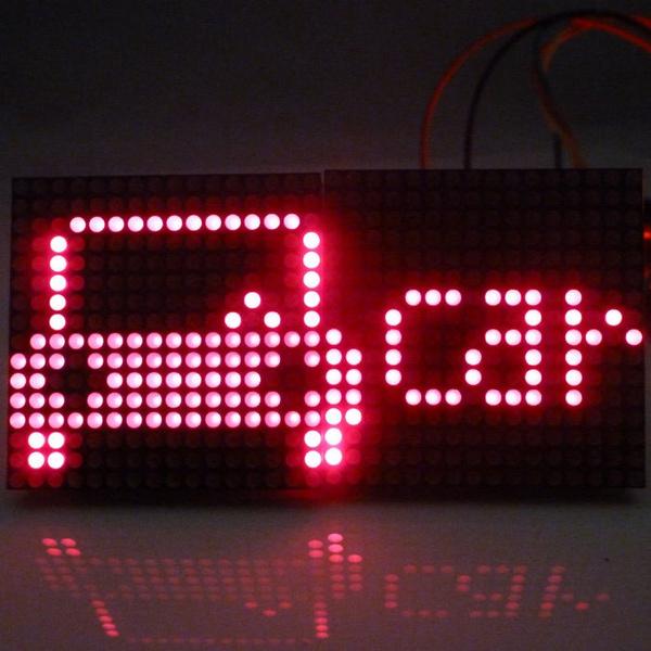 2 PCS 16x16 Dot Matrix LED Pattern Characters Display for Arduino UNO 2560  AVR