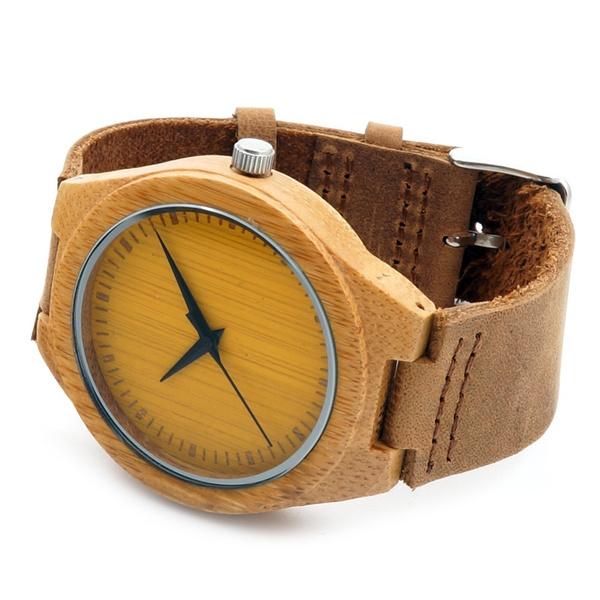 Wish Bobobird Rt0462 Herren Orange Farbe Uhr Gesicht Aus Holz