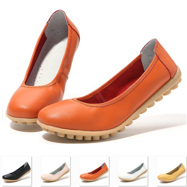 Picture of Factory Price Women's Fashion Shoes Genuine Leather Shoes Candy Color Boat Shoes