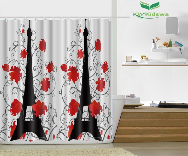 Wish | Eiffel Tower Paris Decor For Bedroom Digital Print Curtains
