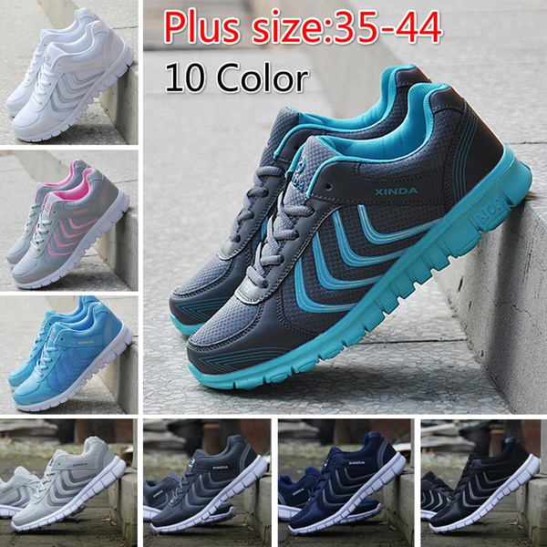 Picture of Fashion Women And Men Walking Shoes Lightweight Breathable Running Casual Shoes Flats 10 Color Plus Size 36-48