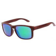 Fashionable Wood Grain Sunglasses Men Reflective Sports Sun Glasses Outdoors Square Eyewear Gafas De Sol Oculos De Sol Feminino