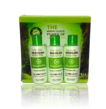 Amazonliss Brazilian Keratin Treatment home use 3 steps 60ml Amazonliss  60ml kit
