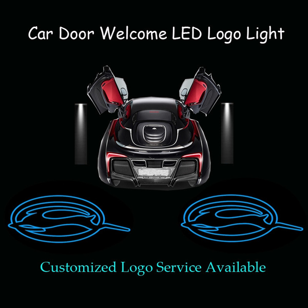 2pcs Car Door Welcome Ghost Shadow Puddle Spotlight Laser Projector