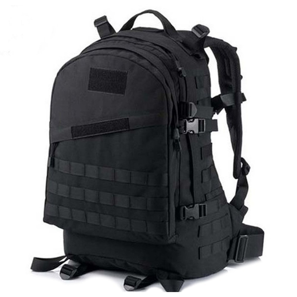 Picture of Outdoor 40l 600d Waterproof Oxford Cloth Military Rucksack Tactical Backpack Bag Acu Camouflage Sports Travelling Hiking Bag Black Color Black
