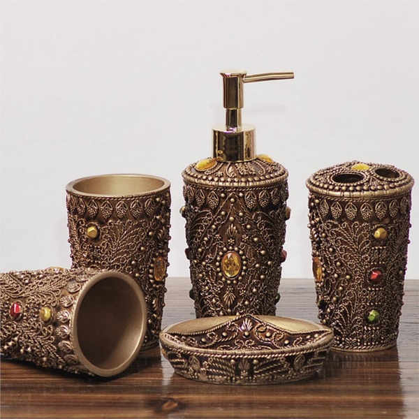Bathroom Accessories Set Bath Resin Cup