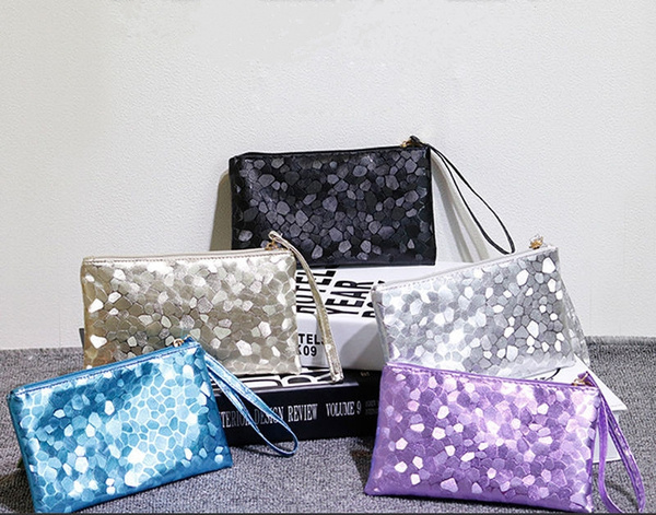 Picture of Women Glitter Sequins Handbag Party Evening Envelope Clutch Bag Wallet Purse
