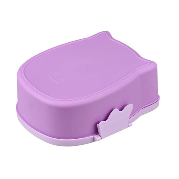 Fantastic New Fashion High Quality IOwl Lunch Box Food Container Storage Box Portable Bento Box(Color: Yellow,Pink,Purple,Blue)