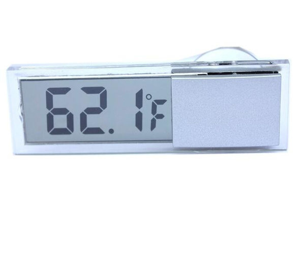 New Car Thermometer Osculum Type LCD Vehicle-mounted Digital Thermometer Celsius Fahrenheit for Car (Size: One Size)