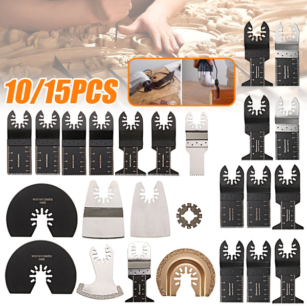 10/15 PCS Saw Blades Scraper Kit fits ROCKWELL SONICRAFTER WORX Oscillating  Calibration Multitool Multimaster Rotary Tool Bit Set For Dremel Fein