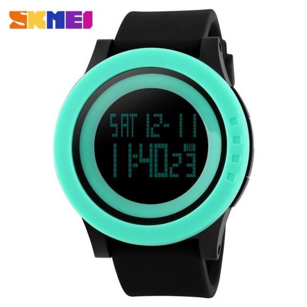 Fashion Black Mens Rubber Band Digital Army Military Quartz Sport Wrist watch durable