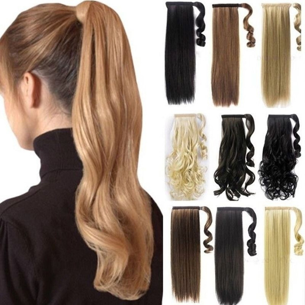 Wish Fashion Long 2326 Straight Wrap Around On Ponytail Clip In