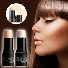 Highlighter Stick Shimmer Powder Cream Shadow Highlighting Waterproof Face Eyes Makeup Cosmetics Silver Gold W_S