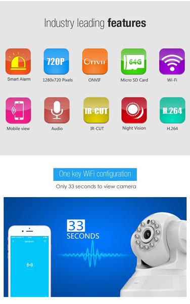 VStarcam Eye4 C37-AR IP Camera 960P(HD) Wifi IR CF Card Slot Network Camera  Security Surveillance Camera