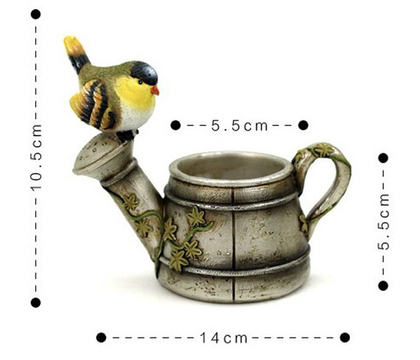 Wish | Resin Bird Teapot Flowerpot Home Decoration Pot De Fleur Vasi Plant  Pot Cute Animal Horse Garden Decor Planters Pots Maceta