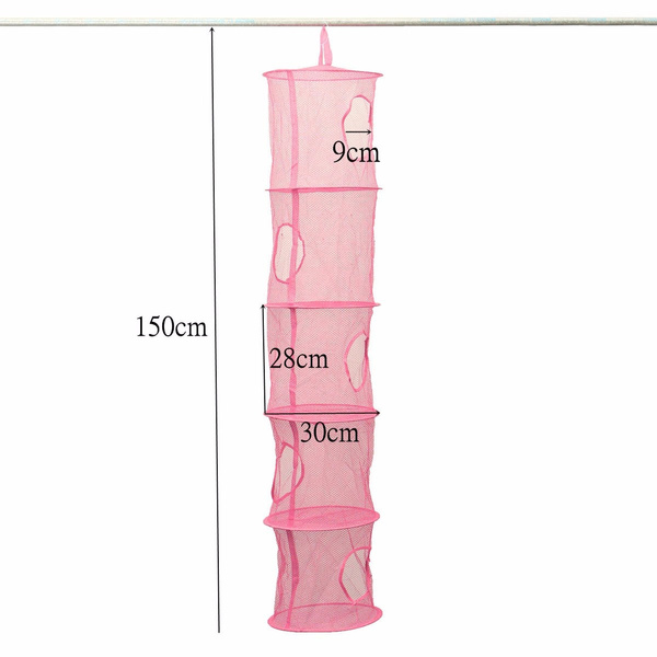 Wish | 5 Layers Compartment Mesh Hanging Storage Toy Clothes Hanger  Organizer For Kids Bedroom
