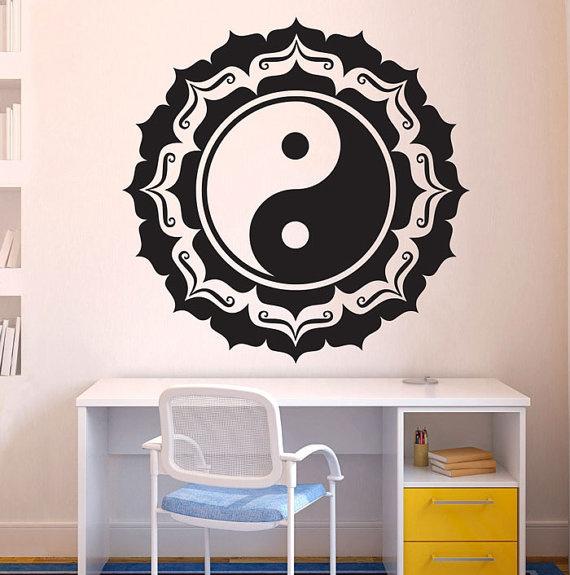 a6e6e75b7e Chinese Yin Yang Feng Shui Wall Decal Art Decor Sticker Chinese Wall ...