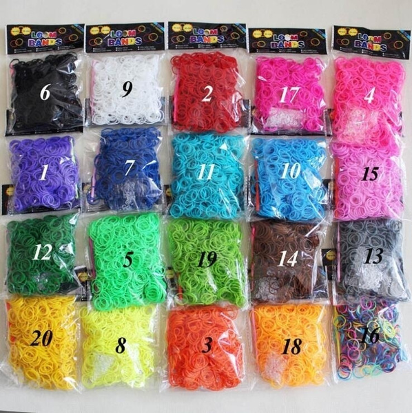600 Pcs/set Available New Child Baby TPU Hair Holders Manual DIY Rubber Bands Elastics Girl's Tie Gum Rainbow Loom Bands