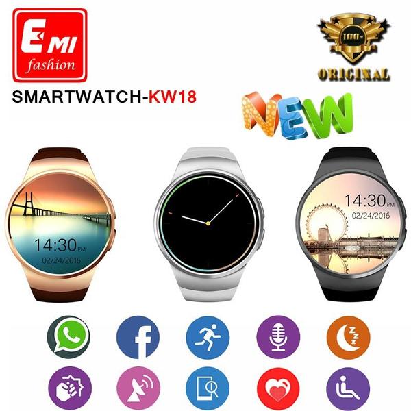 2016 New Product KW18 Smart Watch Android/IOS Digital-watch Bluetooth MINI  SIM Smartwatch