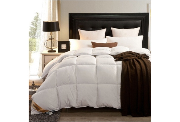 Original 100% goose down comforter feather quilt goose down king size duvet insert queen winter quilt comforter size full