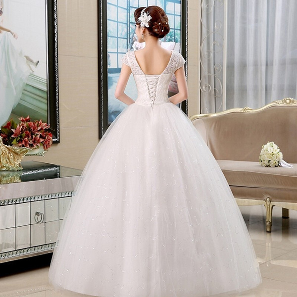 Wish | 2017 Romantic Long Vintage Lace Wedding Dress Crystal Lace Up ...