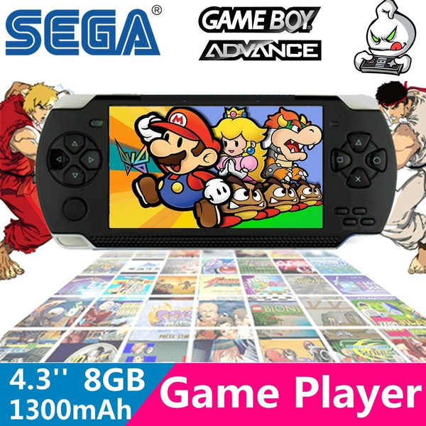MP5 Game Player 8GB 4 3 Inch Screen PSP Handheld Console MP5 Music Player  Style with Camera TV OUT Function Built-in Games 10000