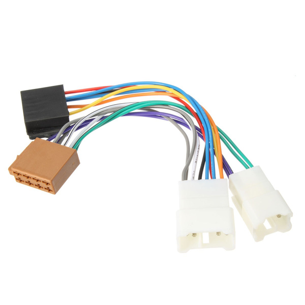 wish stereo iso radio wiring harness connector adapter wire for wish stereo iso radio wiring harness connector adapter wire for toyota camry corolla