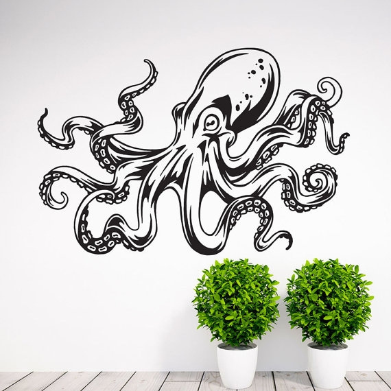 Wish | Octopus Tentacle Wall Decal Art Decor Sticker Octopus Wall Decal Octopus  Art Octopus Decal Octopus Wall Art Tentacle Wall Decal Kraken Decal