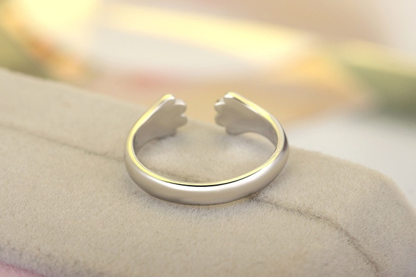 Silver Plated adorable Cat claw wrap Ring
