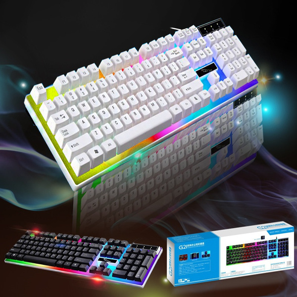 Picture of New Desktop Computer Keyboard Rgb With Background Light Pro Gamer Keyboard