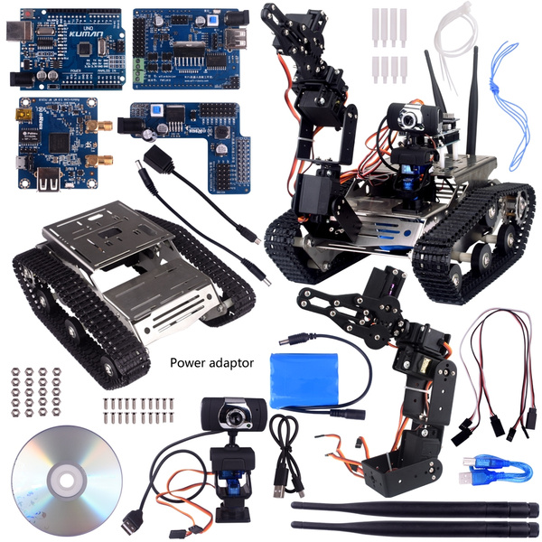 Kuman Wireless Wifi manipulator Robot Car Kit for Arduino,utility Vehicle  Intelligent Robotics, Hd Camera Ds Robot Smart Educational Kits by iOS