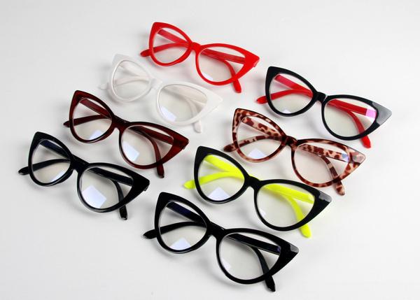 Picture of Sexy Vintage Fashion Cat-eye Shape Women Lady Girls Plastic Plain Eye Glasses