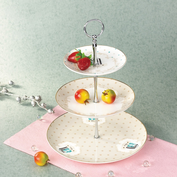 Wish | 2 or 3 Tier Gold Silver Hardware Crown Cake Plate Stand ...