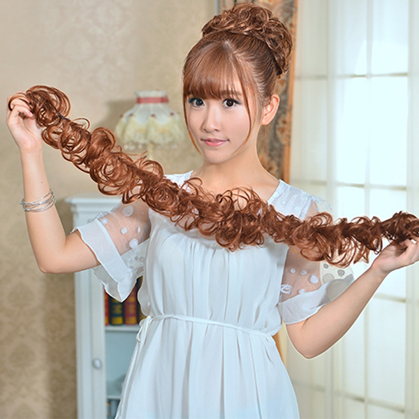 Women Horsetail Long Hairpieces Ponytail Wavy Curly Hair Extension