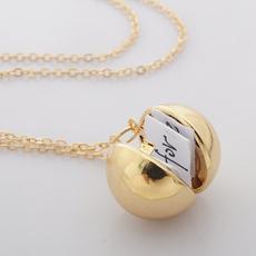 Fashion, messageball, balllocketnecklace, Handmade