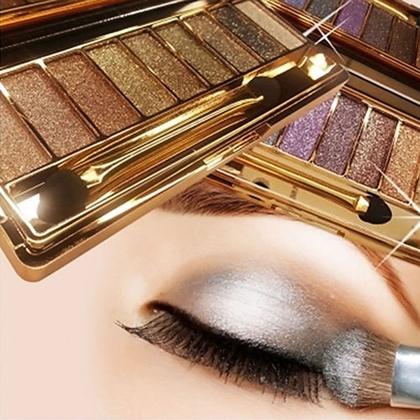 9 colors Waterproof Makeup Eyeshadow Glitter Palette with Brush