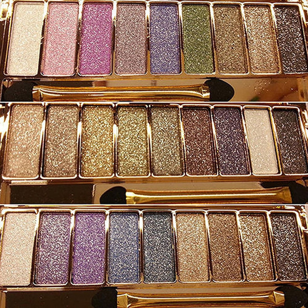 9 colors Waterproof Makeup Eyeshadow Glitter Palette with Brush