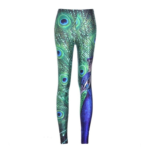 peacock leggings plus size
