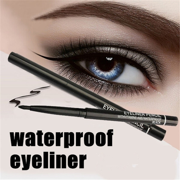 Picture of Mass21 Women Waterproof Retractable Rotary Eyeliner Pen Eye Liner Pencil Makeup Cosmetic Tool Color Black