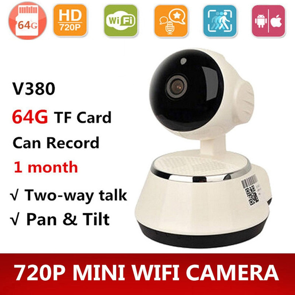 V380 HD 720P Mini IP Camera Wifi Camera Wireless P2P Security Surveillance  Camera Night Vision IR Robot Baby Monitor Support 64G