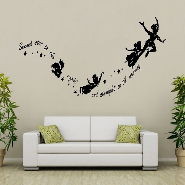 Surprising Tinkerbell Star Peter Pan Diy Pvc Wall Stickers Decal Kids Room Nursery Mural Unemploymentrelief Wooden Chair Designs For Living Room Unemploymentrelieforg