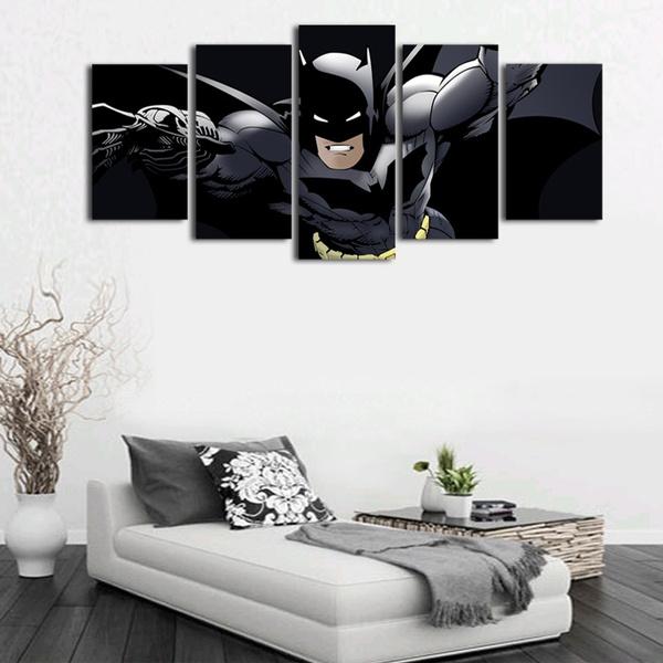Wish   5 Pcs(No Frame) Canvas Wall Art Cartoon Batman Picture Print ...