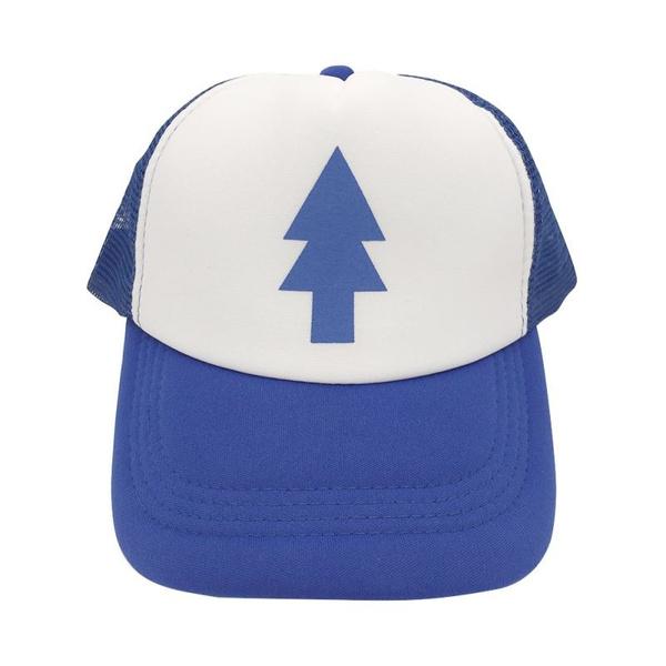Dipper Gravity Cartoon Falls Curved Bill /'BLUE PINE TREE/' Hat Cap Trucker Uniex