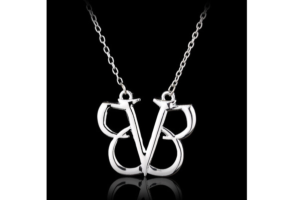 Top Grade Quality Jewelry Rock Band Black Veil Brides Pendant Necklace BVB Logo Punk Gothic Music Fashion Fans Gifts